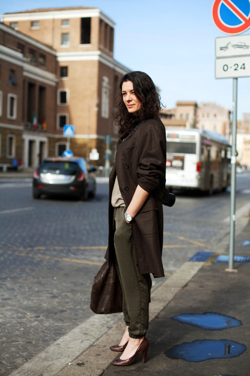 On The Street Beige Brown Rome The Sartorialist