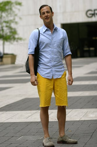 Mens Yellow Shorts - The Else