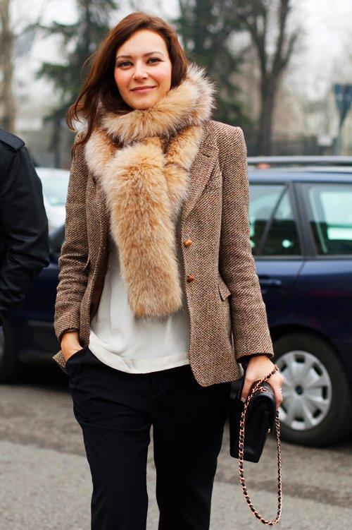 On the Street……Fur Collar, Milan & Paris « The Sartorialist