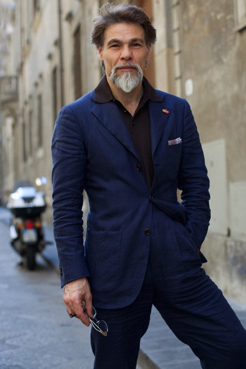 Polo with a Suit, Florence « The Sartorialist