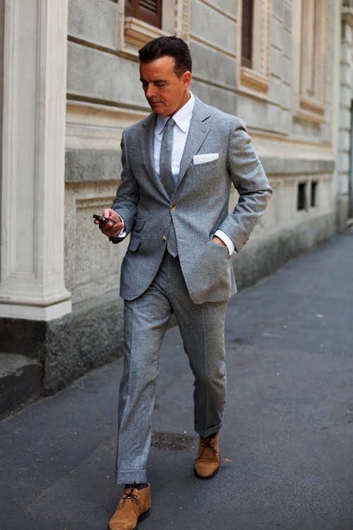 On the Street&.Grey Suit, Milan