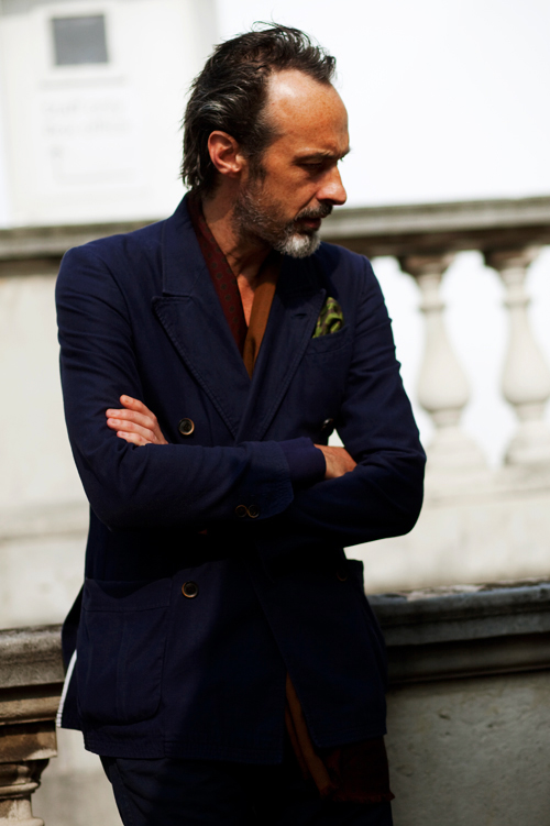 On the Street….DB No Shirt London « The Sartorialist