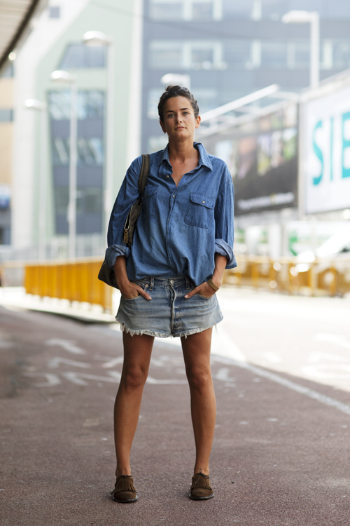 On the Street…Wide Leg Jeans Shorts, London « The Sartorialist