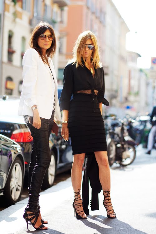 On The Street Carine In Black White Milano The Sartorialist