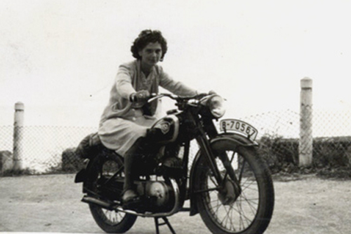 on Vintage motorcycles girls