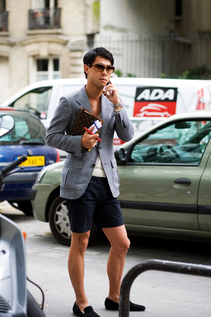 On The Street Structured Jacket And Shorts Paris 171 The