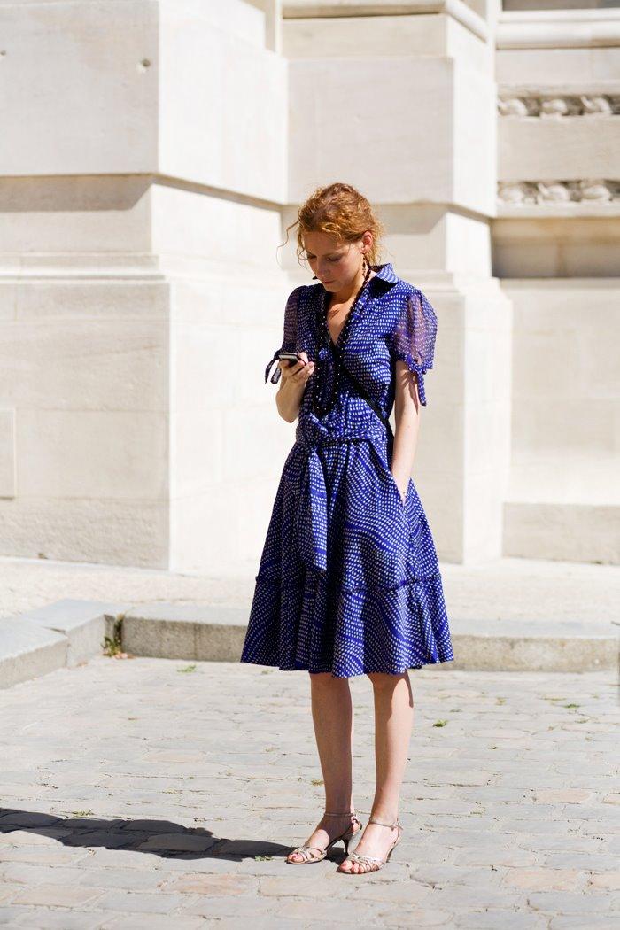 On The Street Blue Dress Paris 171 The Sartorialist
