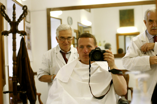Barber In Italian : So can you tell what they are doing with the towels here?