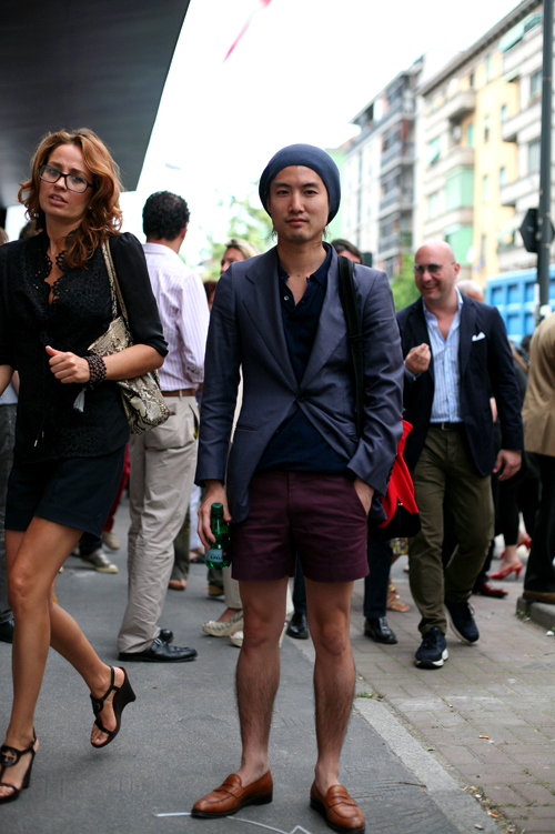 On the Street…..Shorts & Cardigan, Here and Abroad « The Sartorialist