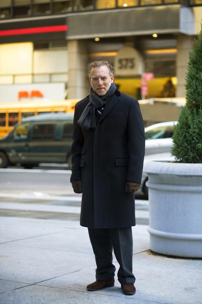 Black Coat Monday……Black & Brown, Midtown « The Sartorialist