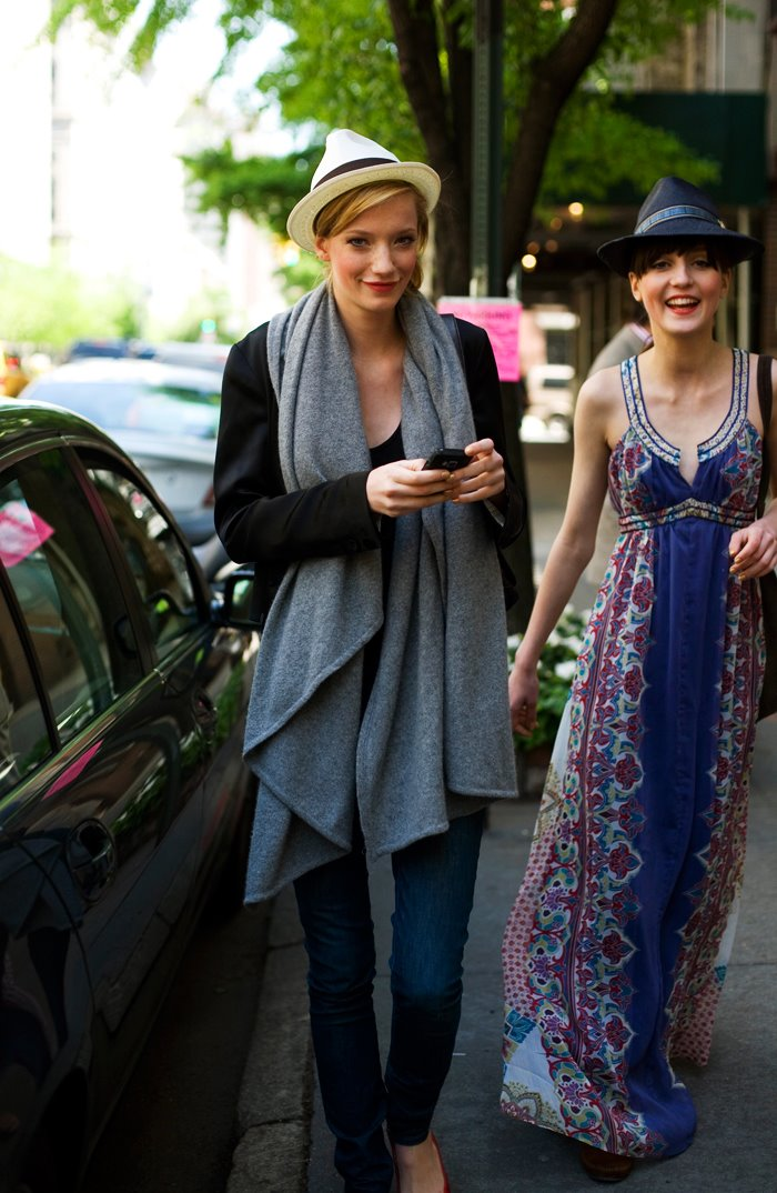 On the Street…Shiny Happy Models Wearing Hats, Uptown