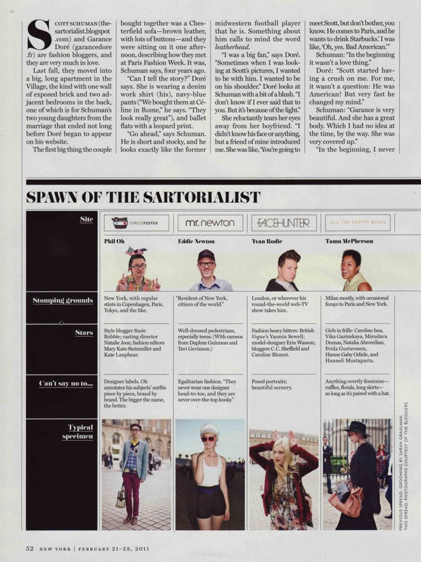 New York Magazine « The Sartorialist