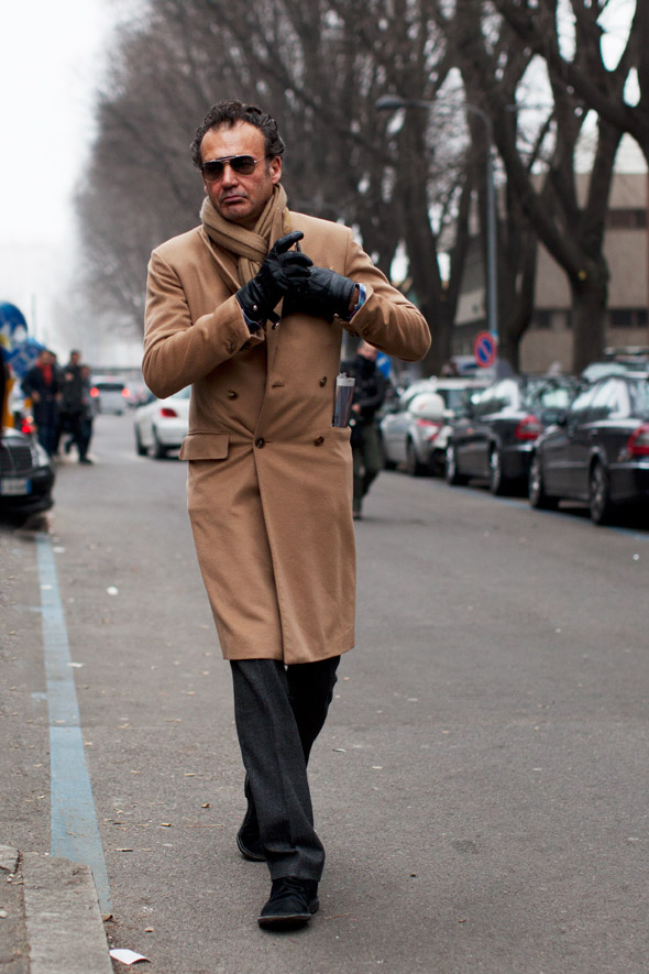 On The Street Best Outerwear After Giorgio Armani Milan