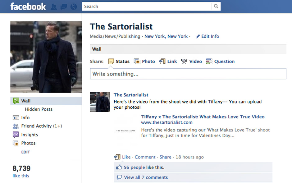 The Sartorialist is Now on Facebook! « The Sartorialist