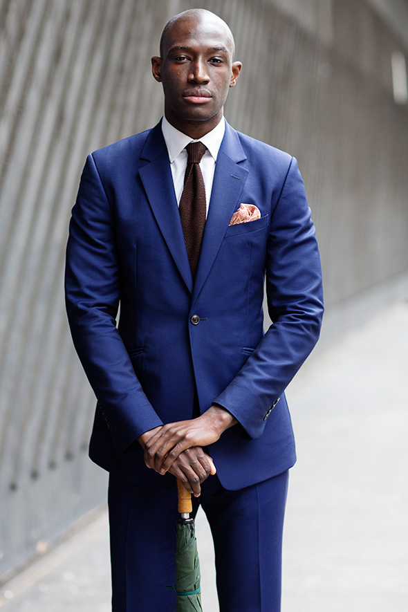On the Street…….Blue Suit, London « The Sartorialist