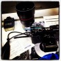 Count 'em. One, two, three pieces of broken camera equipment so far this #mbfw ….. #amexfashion
