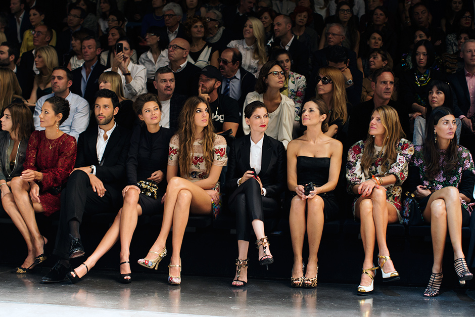 701bc0a0e6 Front Row Legs at Dolce & Gabbana, Milan « The Sartorialist