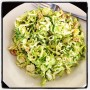 I can't believe I'm instagraming food but the shaved Brussel sprout salad at Barbuto is the best lunch in New York City