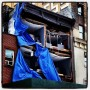 Hurricane Sandy ripped the front off of this building. It looks like a doll house now