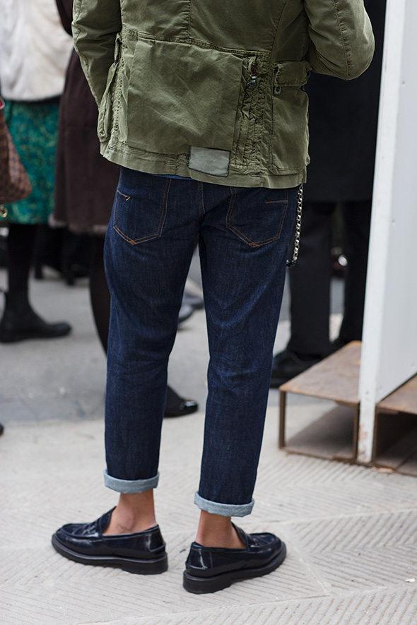 on the street�denim in detail florence 171 the sartorialist