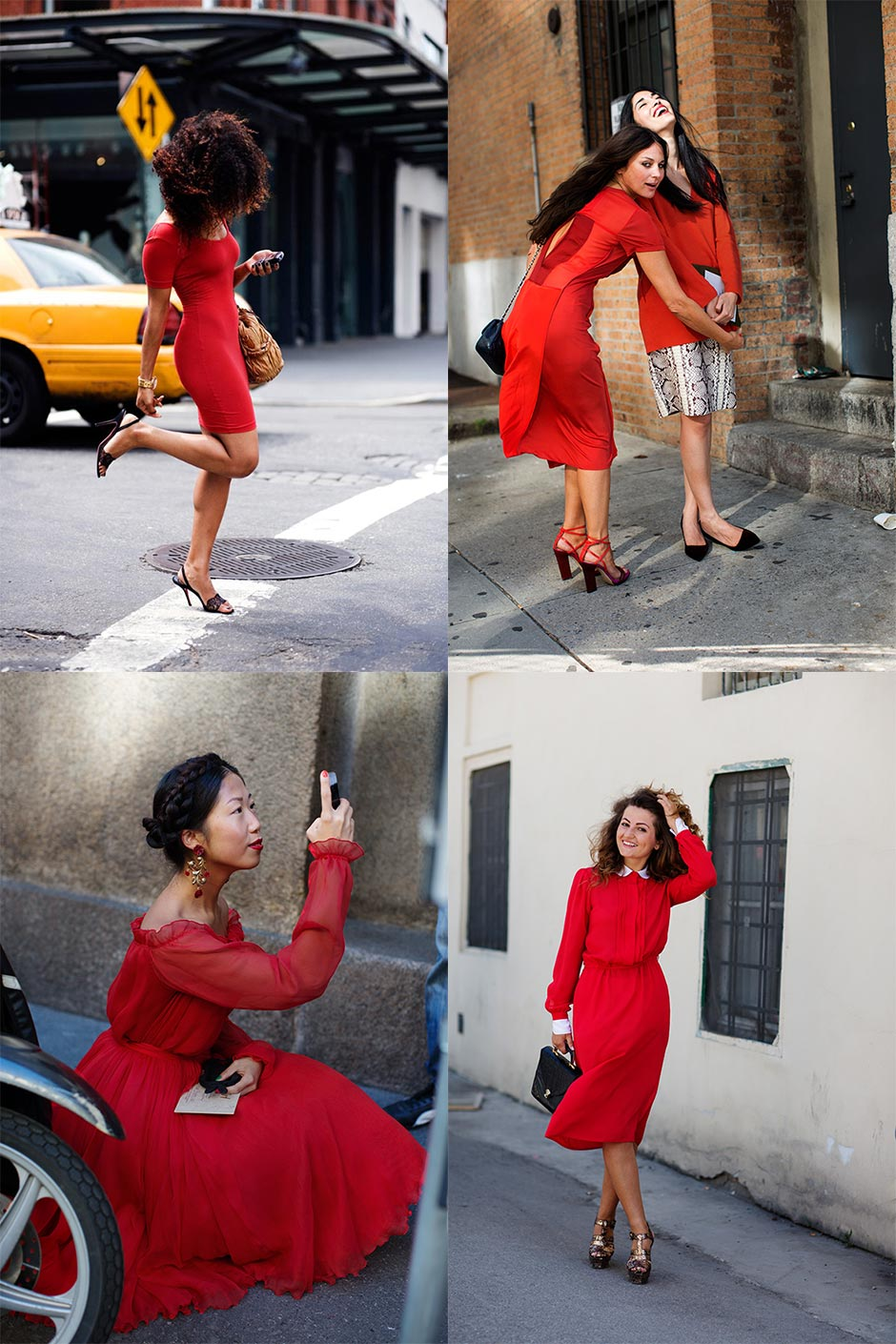 If You're Thinking About….Spring!….Red Dresses