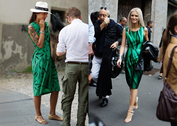 If You're Thinking About…….Green Sleeveless Print Dresses