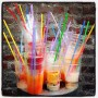 Colorful drinks before Missoni fashion show in Milan