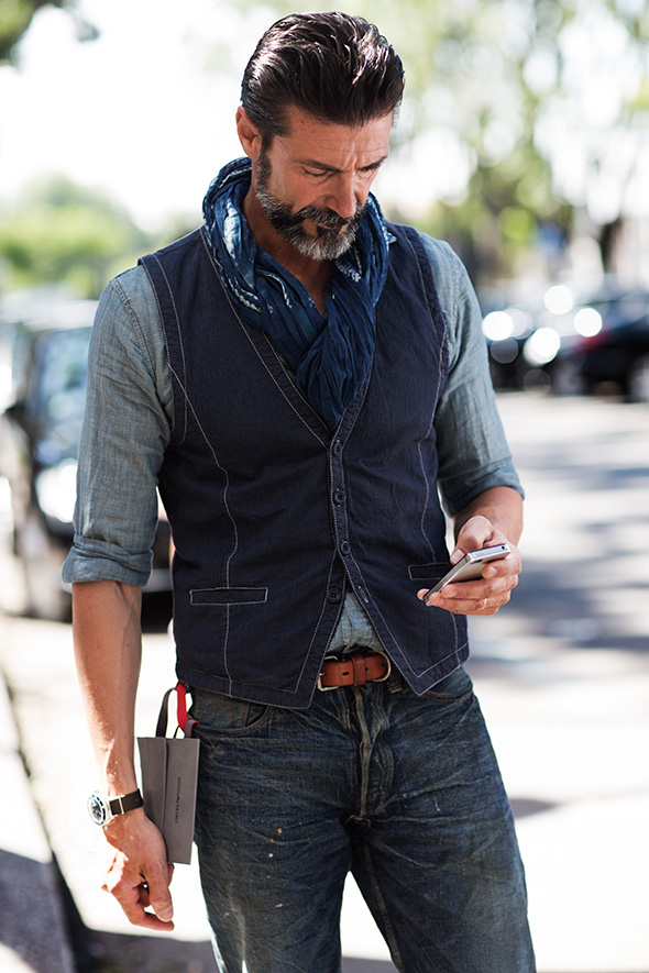 On The Street Summer Denim Milan The Sartorialist