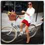On the bikes for a picnic in Central Park with @garancedore, New  York.