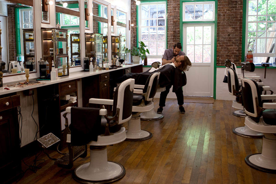 ... is more important?the barber shop or the barber? ? The Sartorialist