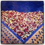 Petals in the pool on the grounds of the beautiful Kasbah Tamadot, Marrakech #kasbahtamadot