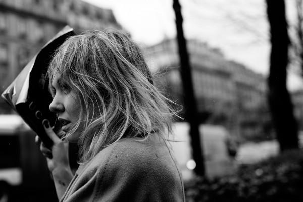 On the Street…..Lauren in the Rain, Paris