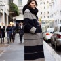 Statement coat on via Montenapoleone, Milan www.TheSartorialist.com