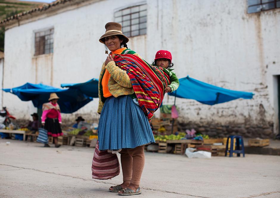 on the street u2026 u2026 town square in a little village  peru