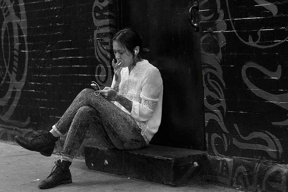 On the Street….East Seventh St., New York