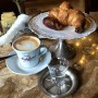 The most chic breakfast at Caffe Moulafsano, Turino  You have to love that even the water has it's own chic serving tray