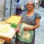 Preparing the days orecchiette in Bari. I love the house dresses that the Nonna of Bari wear with such flair!