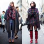 If You're Thinking About…..Being Wrapped in Plaid, New York www.TheSartorialist.com