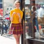 The cutest vintage-wearing university student at Astor Place, New York. Another victory for great smile, great haircut