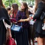 Super chic post-Fendi @fendi_official sidewalk party, Milan. www.TheSartorialist.com