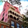 "Sunday run past ""Palazzo Schnabel"" in the West Village. I know the palazzo seems very pink in this image but it's really that dramatic of a color in real life!"