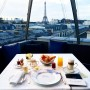 Winter blue morning in Paris. Breakfast at The Peninsula @thepeninsulaparis before the last day of men's fashion week. As you saw in yesterday post the l'Oiseau Blanc has a great view for breakfast and lunch but the view at night for dinner with the shimmering Eiffel Tower in the distance is insane. So begins my travel adventures with Conde Nast Traveler @cntraveler