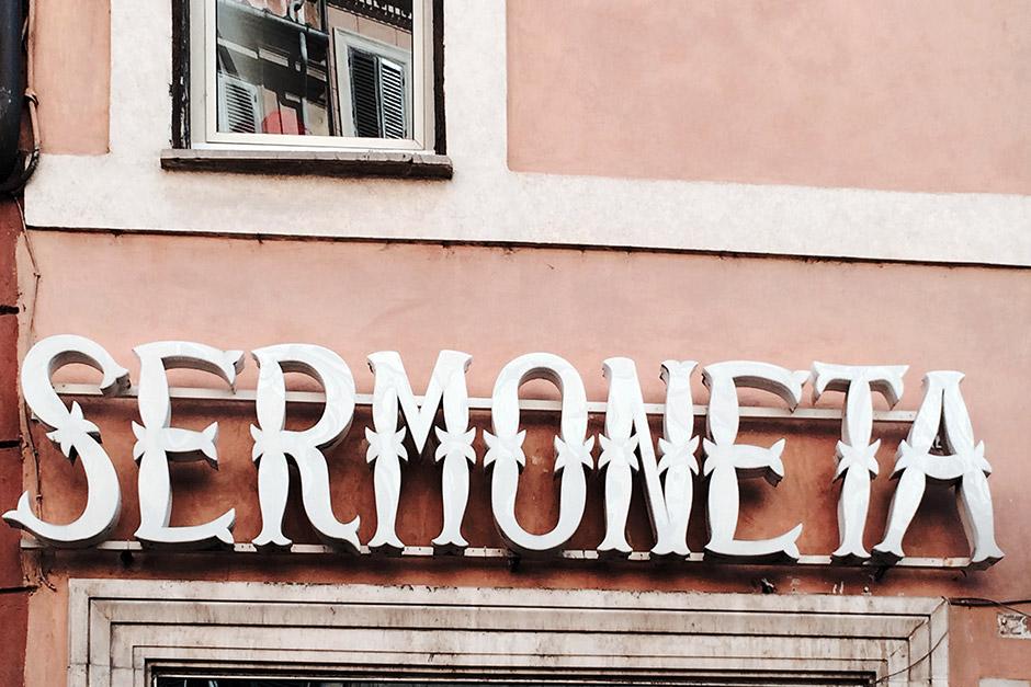 On the Street…Italian Signage, Rome