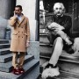 Fur slippers! Crazy or genius ? Or crazy genius !  #EinsteinWoreThem