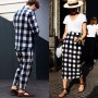 Bold checks (or is it plaids?) for summer 2015.