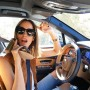 Hanging with my good friend @louiseroe driving around Palm Springs in a @bentleymotors She's been complaining how bad the reception is on her @louboutinworld but everyone knows the @louisvuitton shoe phone is much more reliable!!! (And the heel camera is better)  #bentayga