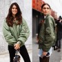 It seems the nylon pilot jacket is The Jacket of the chic Italian set for this Spring
