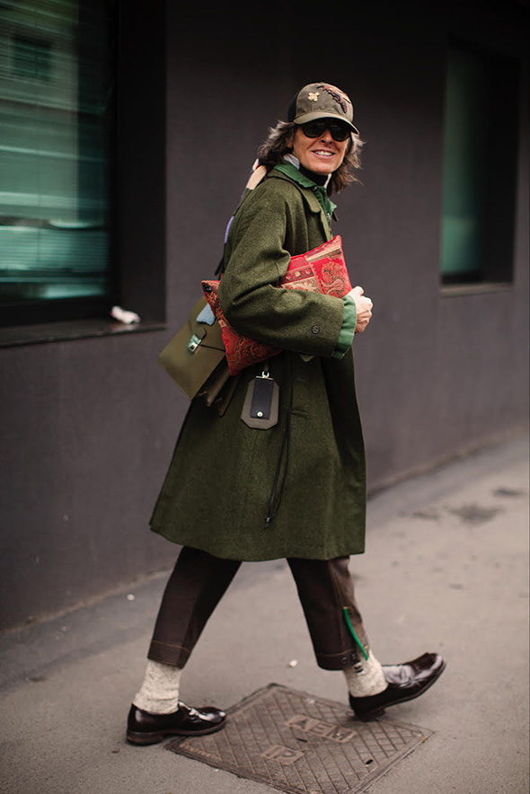 On the Street…Ana After Etro, Milan