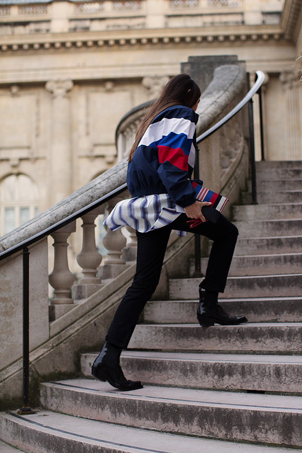 On the Stairs…At Rochas, Paris