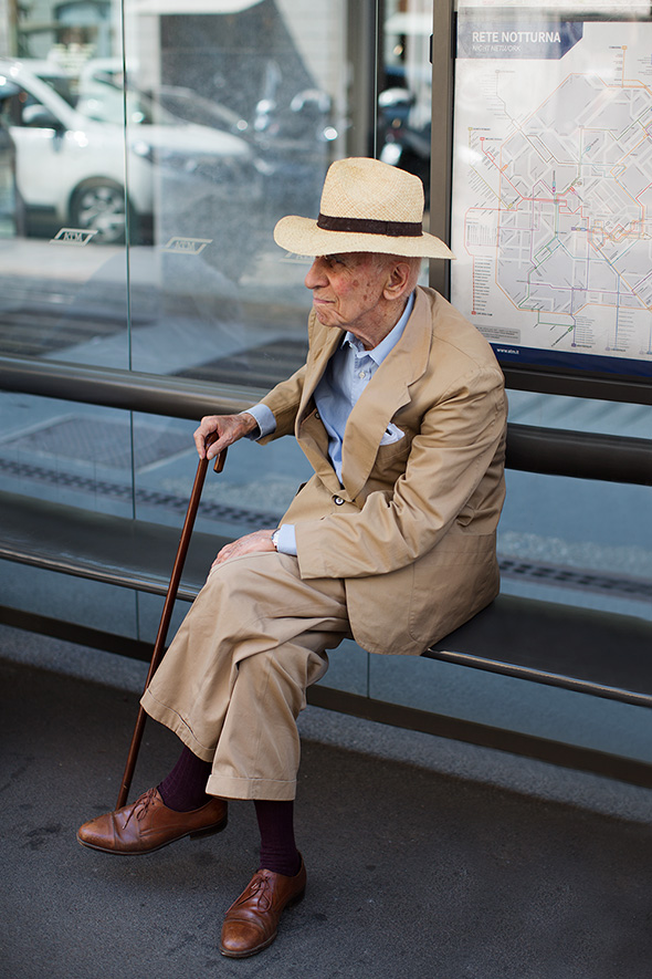 On the Street…Bus Stop, Milan